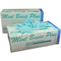 Basic Plus Mint Nitrile Handschoenen Ongepoederd