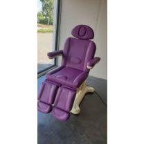 Elektrische Pedicure Behandelstoel Comfort Paars met warmte SHOWMODEL