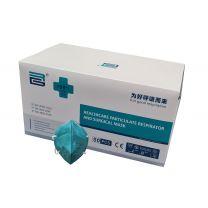 Medische Mondmaskers FFP2/IIR - 50 STUKS - BFE >99% - GROEN