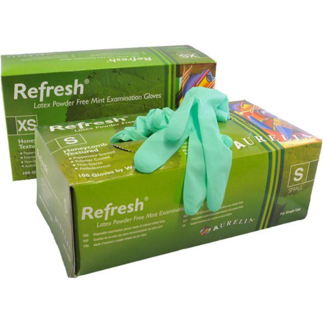 Aurelia Refresh Mint Latex Handschoenen Ongepoederd Groen 100st.